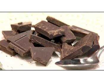 гора черного шоколада