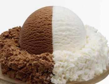 двухцветное мороженое