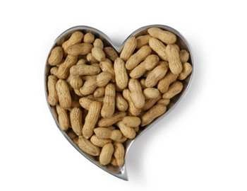 уложенные арахис