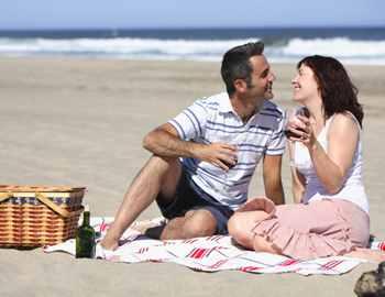 едим на пляже