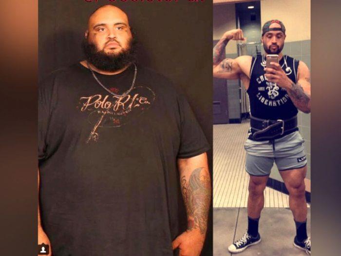 похудевший парень