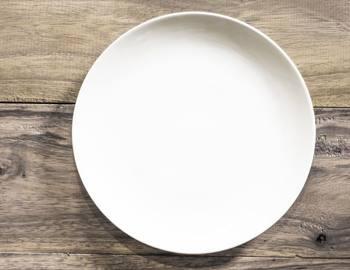 чистая тарелка