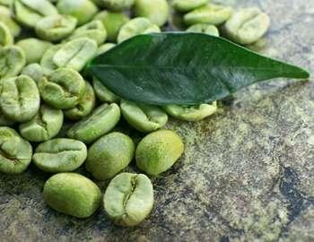 бобы зеленого кофе