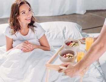 здоровая еда в постель